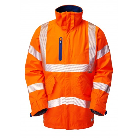 ISO 20471 Class 3 High Performance Waterproof Anorak Orange Anoraks