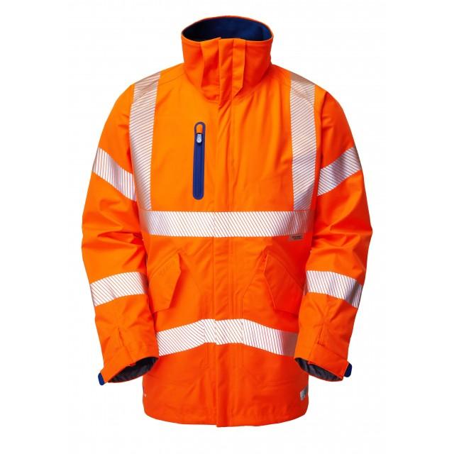 ISO 20471 Class 3 High Performance Waterproof Anorak Orange Anoraks