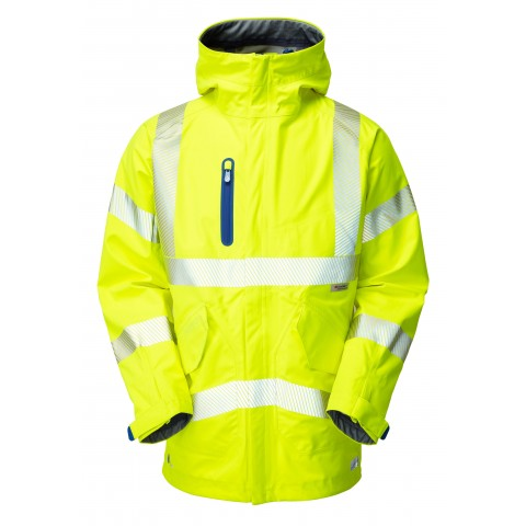 ISO 20471 Class 3 High Performance Waterproof Anorak Yellow Anoraks