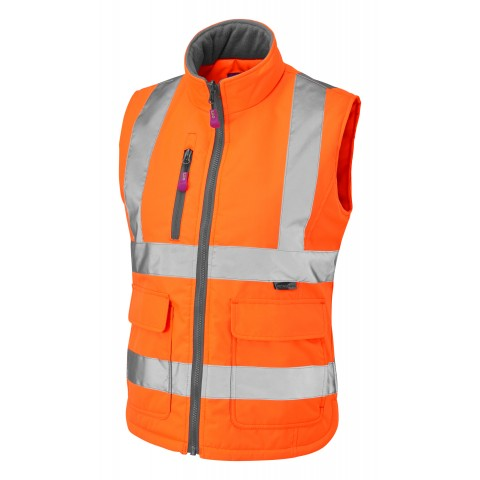 ISO 20471 Class 1 Women's Bodywarmer Orange Ladies Bodywarmer