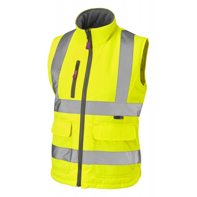 ISO 20471 Class 1 Women's Bodywarmer Yellow Ladies Bodywarmer