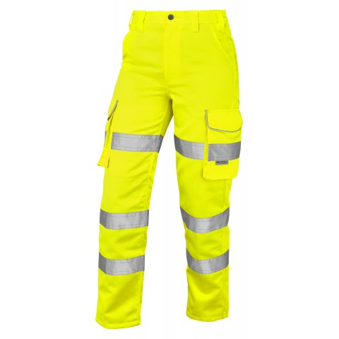 ISO 20471 Class 2 Women's Poly/Cotton Cargo Trouser Yellow