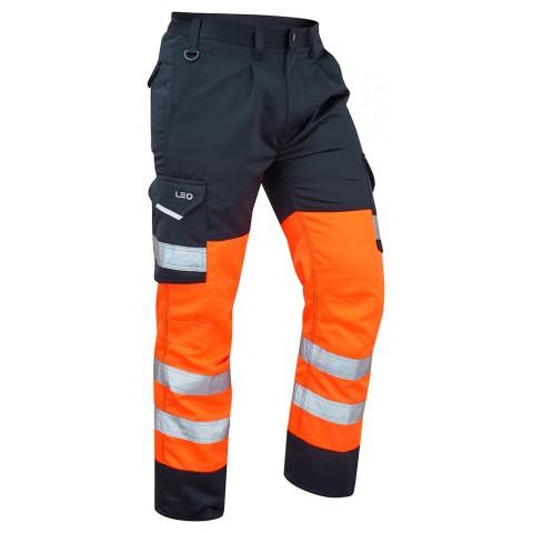 ISO 20471 Class 1 Cargo Trouser Orange/Navy Cargo Trousers