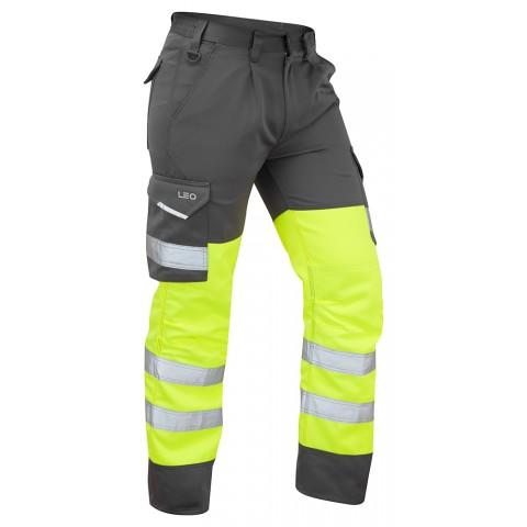 ISO 20471 Class 1 Cargo Trouser Yellow/Grey Cargo Trousers