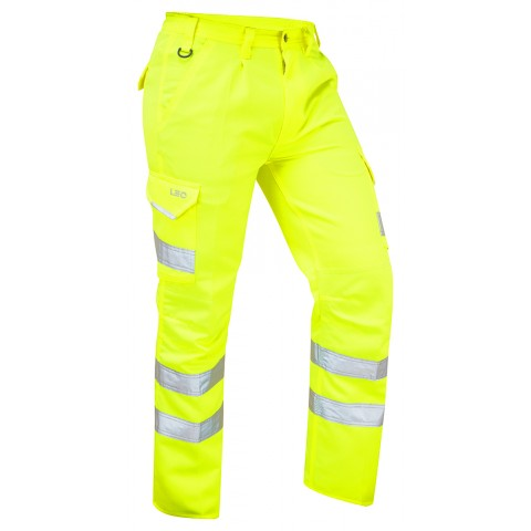 ISO 20471 Class 1 Cargo Trouser Yellow Cargo Trousers