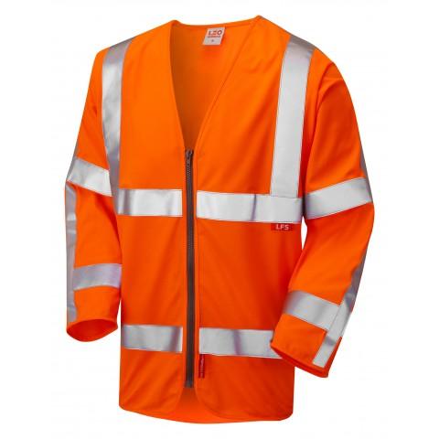 ISO 20471 Class 3 LFS Sleeved Waistcoat Orange EN 14116 LFS Waistcoats