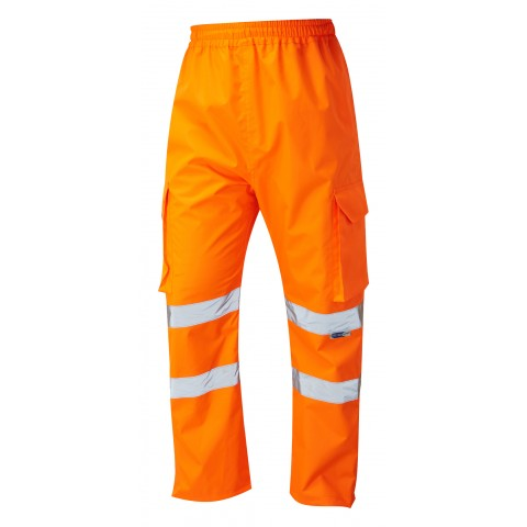 ISO 20471 Class 1 Cargo Overtrouser Orange Overtrousers