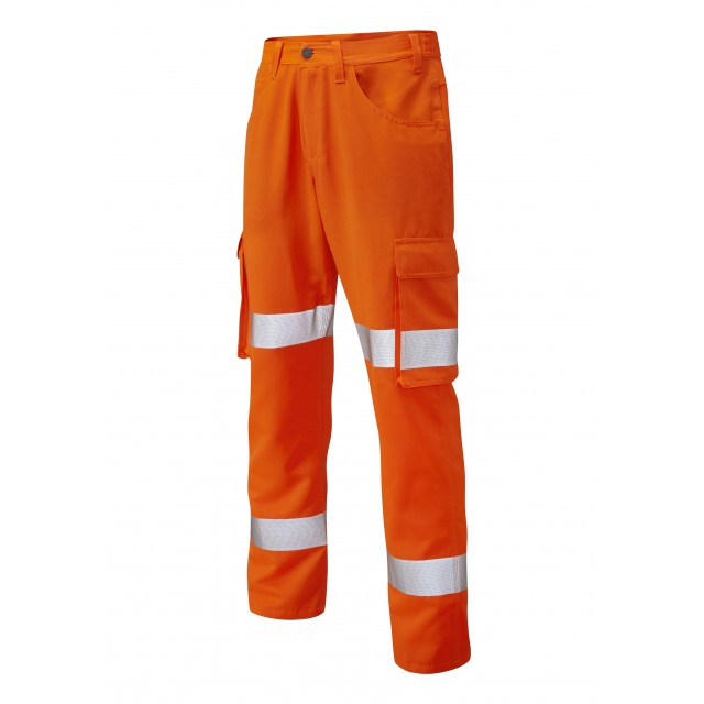 ISO 20471 Class 1 Lightweight Cargo Trouser Orange Cargo Trousers