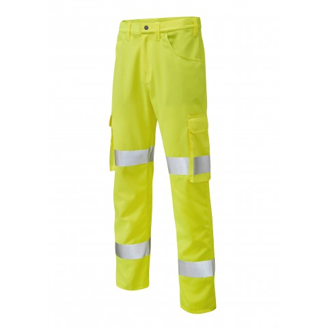 ISO 20471 Class 1 Lightweight Cargo Trouser Yellow Cargo Trousers