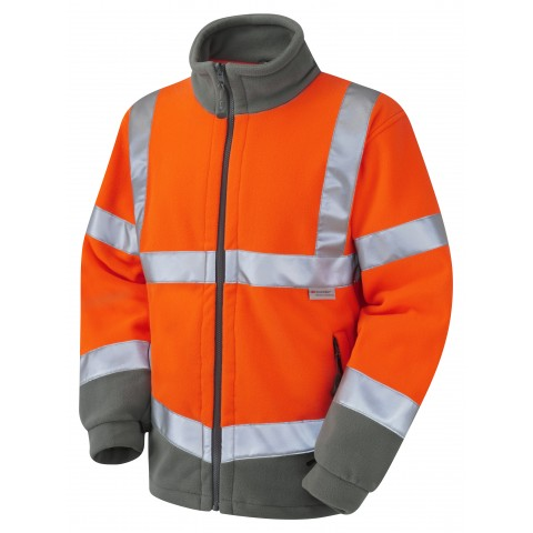 ISO 20471 Class 3 Fleece Jacket Orange Fleece Jackets