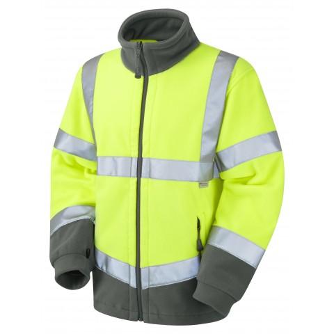 ISO 20471 Class 3 Fleece Jacket Yellow Fleece Jackets