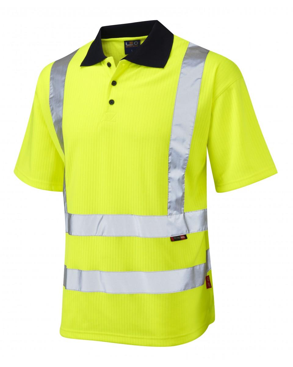 Iso 20471 Class 2 Comfort Polo Shirt Yellow T Polos Croyde Vests