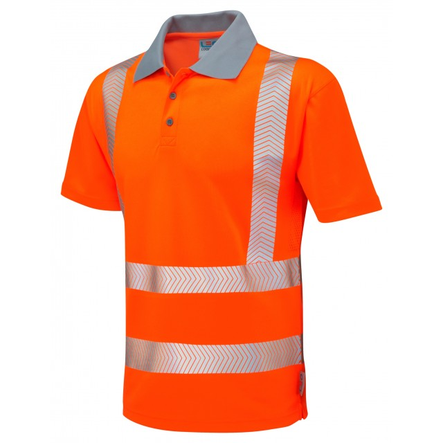 ISO 20471 Class 2 Coolviz Plus Polo Shirt Orange Coolviz Plus Polos