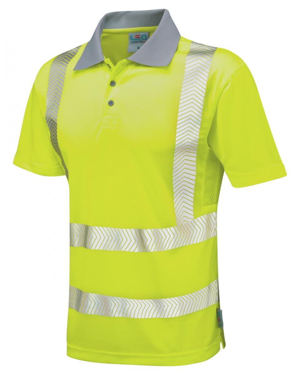 ceec51c16d0c6 ISO 20471 Class 2 Coolviz Plus Polo Shirt Yellow Coolviz Plus Polos