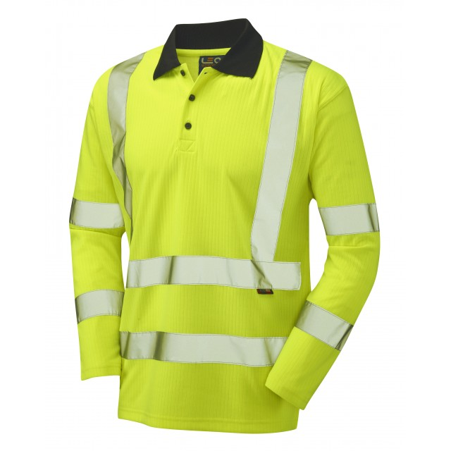 ISO 20471 Class 3 Comfort Sleeved Polo Shirt Comfort Vests, Polos & T-Shirts