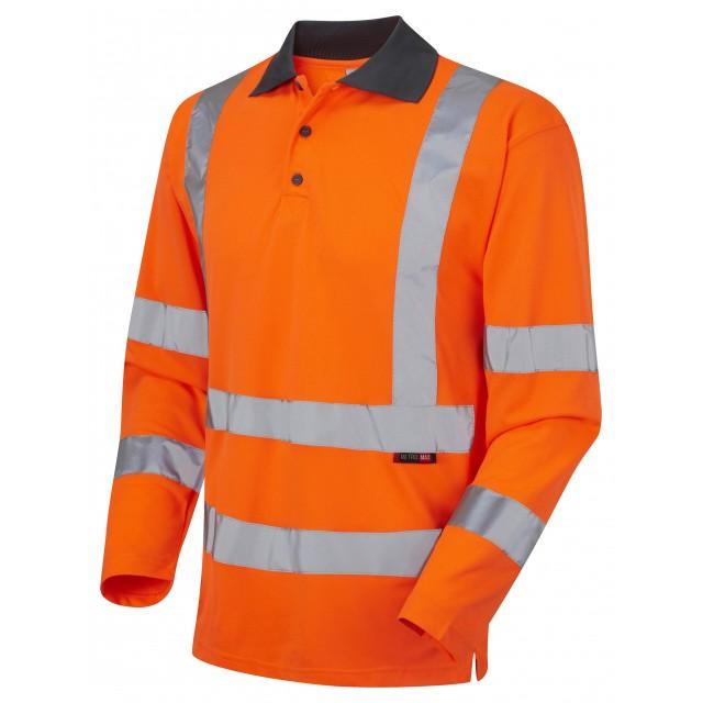 ISO 20471 Class 3 Coolviz Sleeved Polo Shirt Orange Coolviz Polos & T-Shirts