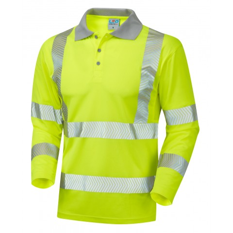 ISO 20471 Class 3 Coolviz Plus Sleeved Polo Shirt Yellow Coolviz Plus Polos