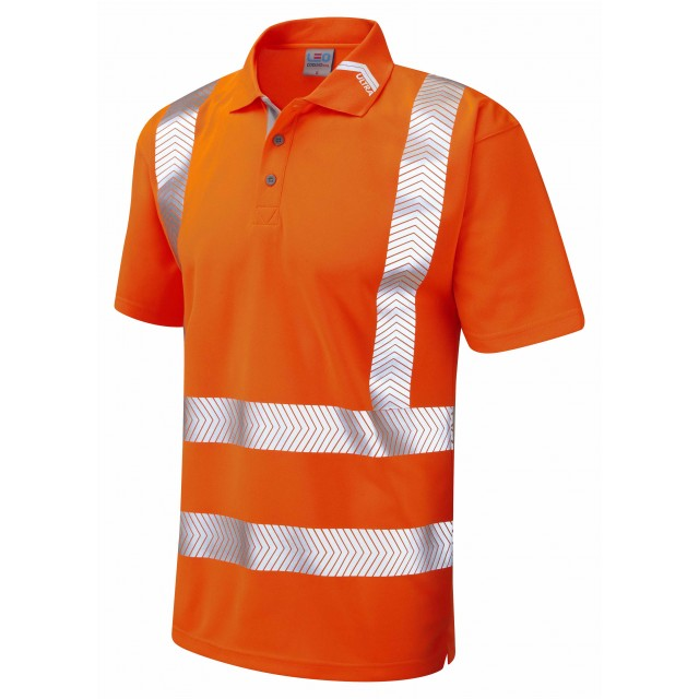 ISO 20471 Class 2 Coolviz Ultra Polo Shirt Orange