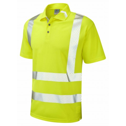 ISO 20471 Class 2 Coolviz Ultra Polo Shirt Yellow Coolviz Ultra Polos