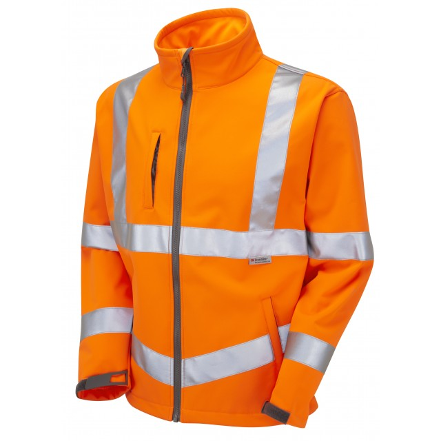 ISO 20471 Class 3 Softshell Jacket Orange Softshell Jackets