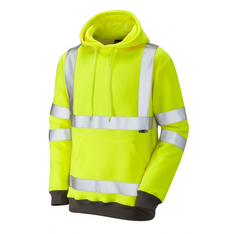 ISO 20471 Class 3 Hooded Sweatshirt Yellow