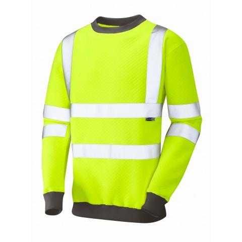 ISO 20471 Class 3 Crew NeckSweatshirt Yellow