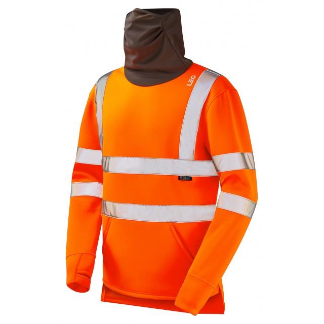 ISO 20471 Class 3 Snood Sweatshirt Orange