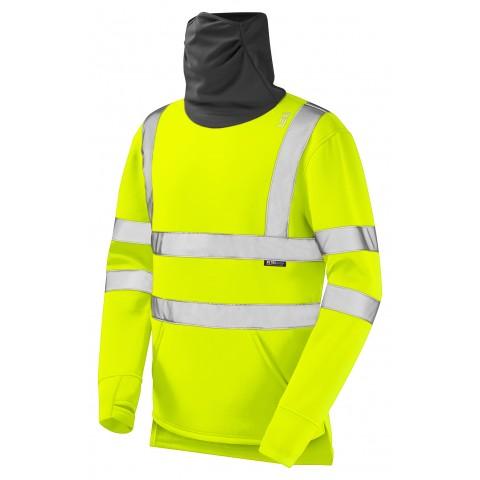 ISO 20471 Class 3 Snood Sweatshirt Yellow