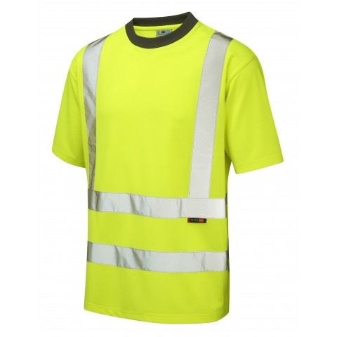 ISO 20471 Class 2 Coolviz T-Shirt Yellow Coolviz Polos & T-Shirts