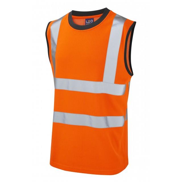 ISO 20471 Class 2 Comfort Sleeveless T-Shirts Orange, Polos & T-Shirts