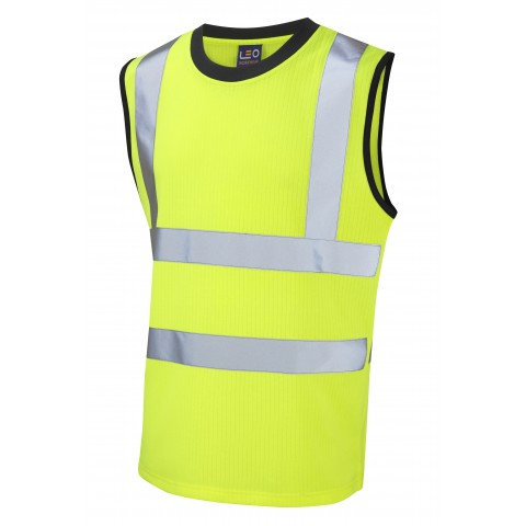 ISO 20471 Class 2 Comfort Vest Yellow Comfort Vests, Polos & T-Shirts