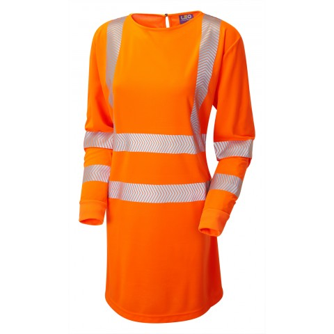 ISO 20471 Class 3 Ladies Coolviz Ultra Long Sleeve Modesty Tunic Orange