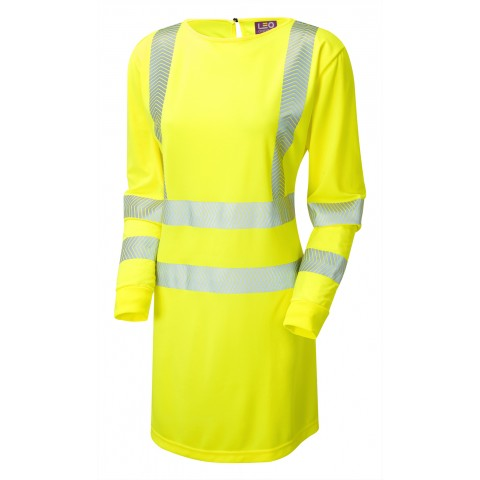 ISO 20471 Class 3 Women's Coolviz Ultra Long Sleeve Modesty Tunic Yellow