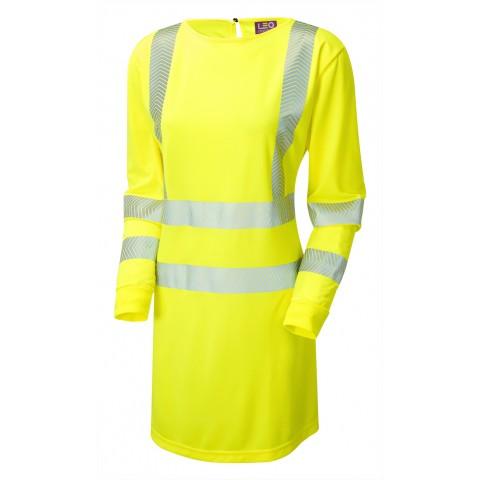 ISO 20471 Class 3 Women's Coolviz Ultra Long Sleeve Modesty Tunic Yellow