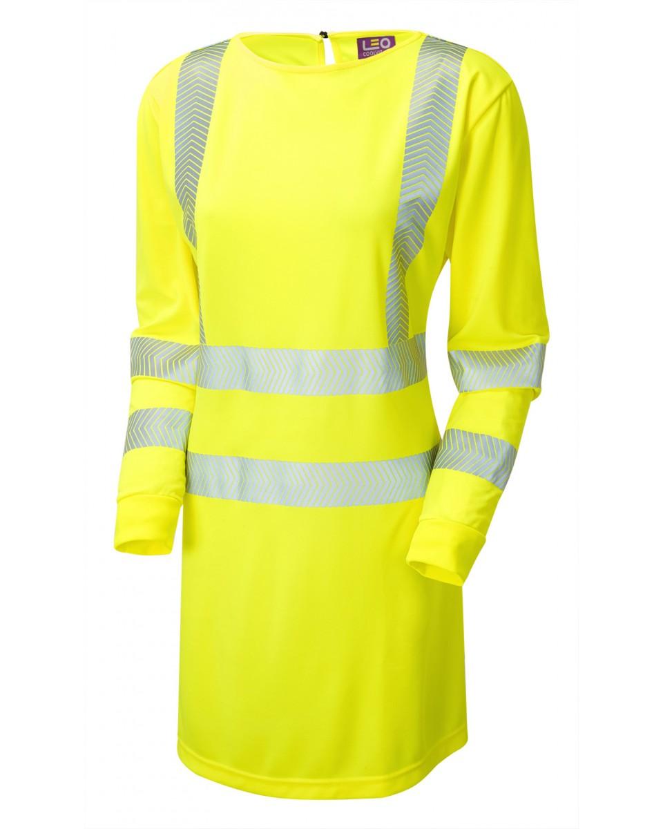 3479087878599 ISO 20471 Class 3 Women's Coolviz Ultra Long Sleeve Modesty Tunic Yellow  MT01-Y