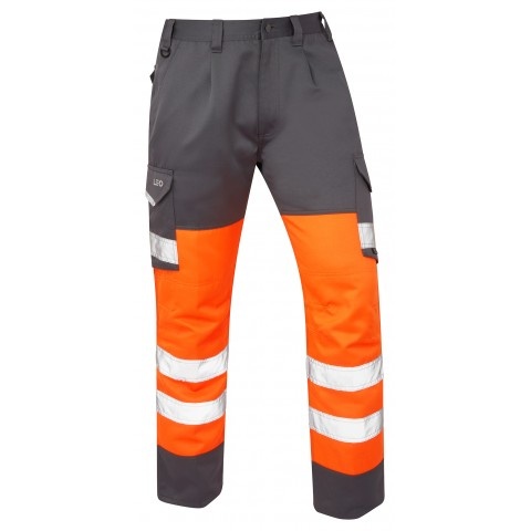 ISO 20471 Class 1 Cargo Trouser Orange/Grey Cargo Trousers