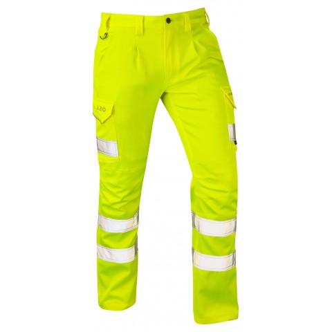 ISO 20471 Class 1 EcoViz® PCX Stretch Cargo Trouser Yellow