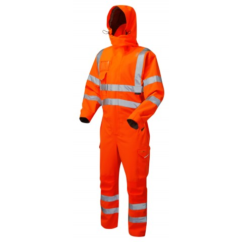 ISO 20471 Class 3 EcoViz® 10KX Stretch Coverall Orange