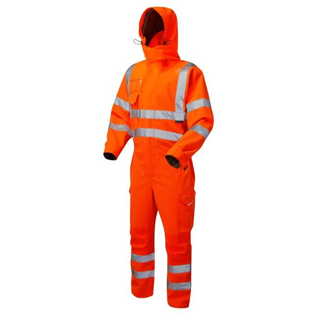 ISO 20471 Class 3 EcoViz® 10KX Stretch Coverall Orange