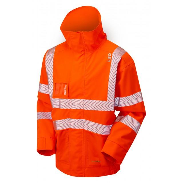 ISO 20471 Class 3 EcoViz 10K Breathable Bomber Jacket Orange
