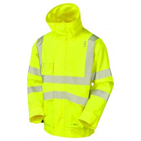ISO 20471 Class 3 EcoViz 10K Breathable Bomber Jacket Yellow