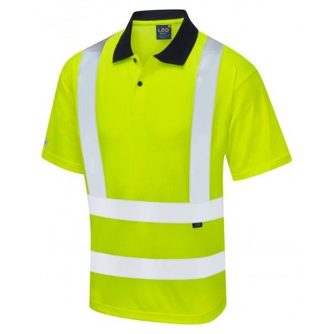 Croyde ISO 20471 Class 2 Comfort EcoViz®PB Polo Shirt Vests, Polos & T-Shirts