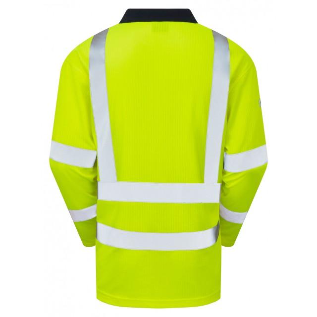 Swimbridge ISO 20471 Class 2 Comfort EcoViz®PB Sleeved Polo Shirt Yellow Vests, Polos & T-Shirts