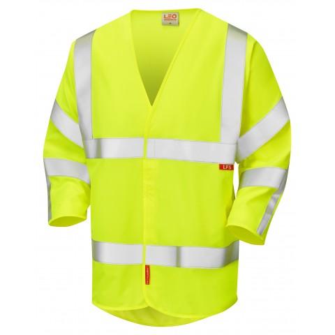 ISO 20471 Class 3 LFS 3/4 Sleeve Waistcoat Yellow EN 14116 LFS Waistcoats
