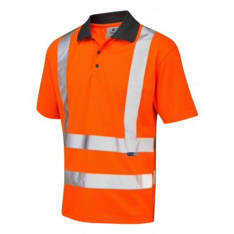 ISO 20471 Class 2 Coolviz Polo Shirt Orange