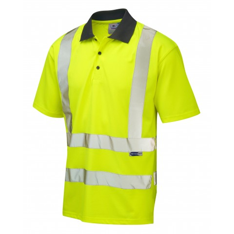 ISO 20471 Class 2 Coolviz Polo Shirt Yellow Comfort Vests, Polos & T-Shirts