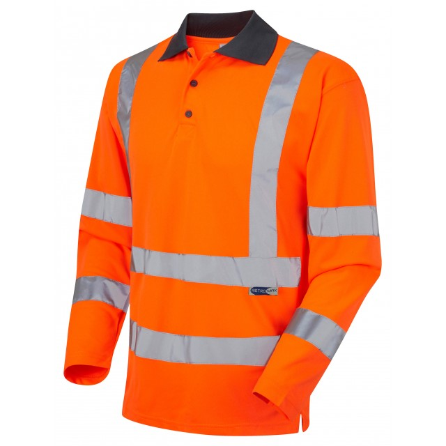 ISO 20471 Class 3 Coolviz Sleeved Polo Shirt Orange Coolviz Polos & T-Shirts
