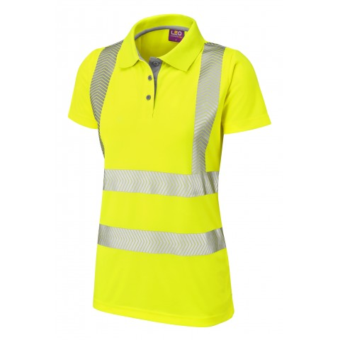 ISO 20471 Class 2 Coolviz Ultra Women's Polo Shirt Yellow Coolviz Plus Polos