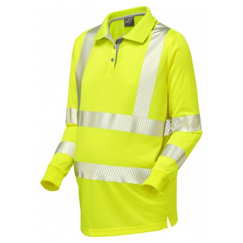 ISO 20471 Class 2 Coolviz Ultra Women's Maternity Sleeved Polo Shirt Yellow Coolviz Ultra Polos