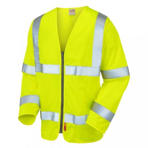 ISO 20471 Class 3 LFS Sleeved Waistcoat Yellow EN 14116 LFS Waistcoats